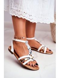 Women's Sandals Elegant White Snake Brooke - JH128 WHITE