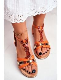 Women's Sandals Elegant Orange Snake Brooke - JH128 ORANGE