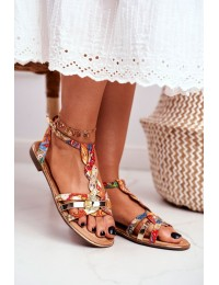Women's Sandals Elegant Orange Orient Brooke - JH128 FLOWER.ORANGE