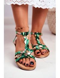 Women's Sandals Elegant Green Orient Brooke - JH128 FLOWER.GREEN