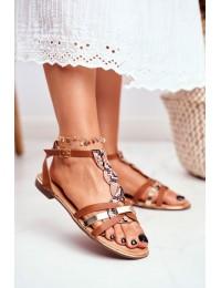 Women's Sandals Elegant Brown Snake Brooke - JH128 SN.CAMEL