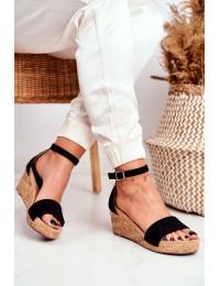 Women's Sandals On Wedge Black MarryMe - LL-228P BLK