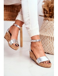 Women's Sandals On Wedge Silver MarryMe - LL-228P SILVER