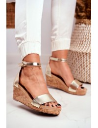 Women's Sandals On Wedge Gold MarryMe - LL-228P GOLD