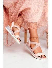 Women's Sandals On Wedge Slip On Beige Harper  - NS116 NUDE