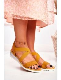 Women's Sandals On Wedge Slip On Yellow Harper  - NS116 YELLOW