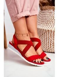 Women's Sandals On Wedge Slip On Red Harper  - NS116 RED