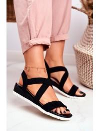 Women's Sandals On Wedge Slip On Black Harper  - NS116 BLK