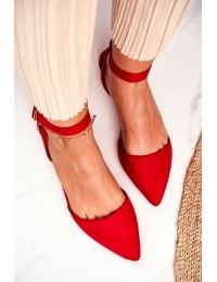 Elegantiški raudonos spalvos bateliai - CL73 RED