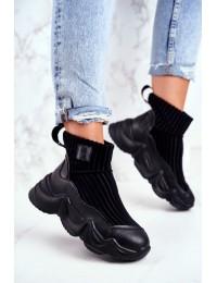 Women's High Sneakers Big Star Black GG274607 - GG274607 BLK