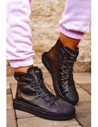 Women's Sport Leather Shoes GOE Black GG2N3050 - GG2N3050 BLK