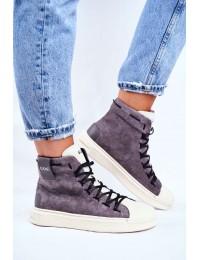 Women's Sport Leather Shoes GOE Grey GG2N3049 - GG2N3049 GREY