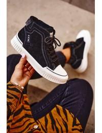 Natūralios odos aukštos kokybės batai GOE Black  - GG2N3062 BLK