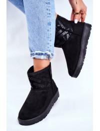 Juodi UGG stiliaus zomšiniai batai - GG274556 BLK