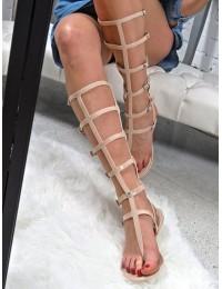 Lu Boo Beige Sandals Roman Flip-flops Harona - ZY38-051-26 BEIGE