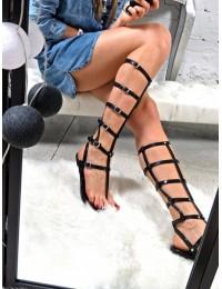 Lu Boo Black Sandals Roman Flip-flops Harona - ZY38-051-26 BLK