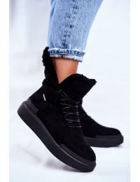 Šilti aukštos kokybės zomšiniai batai - GG274990 BLK