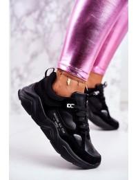 Women's Sport Shoes Sneakers Big Star Black GG274654 - GG274654 BLK