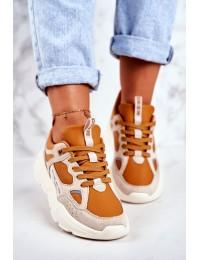 Women's Sport Shoes Sneakers Big Star Beige GG274653 - GG274653 BEIGE/BROWN