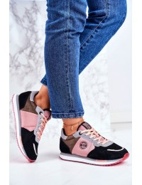 Women's Sport Shoes Sneakers Big Star GG274458 - GG274458 BLK/PINK