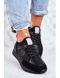 Women's Sport Shoes Sneakers Cross Jeans Black GG2R4046C - GG2R4046C BLK