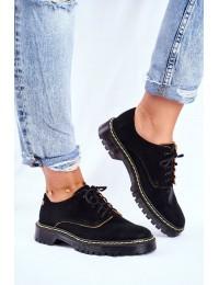 Women's Brogues Oxfords Leather Black Maciejka 04087-01 - 04087-01/00-5 CZARNY