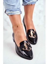 Women's Moccasins Leather Lacquered Black Nicole 2588 - 2588 035 BLK