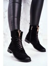 Natūralios odos prabangaus stiliaus itin aukštos kokybės batai - 2593 BLK 028