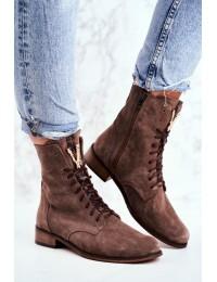 Natūralios odos prabangaus stiliaus itin aukštos kokybės batai - 2593 032 CAPPUCCINO