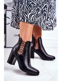 Aukštos kokybės stilingi originalaus dizaino batai - 21-16152 BLK