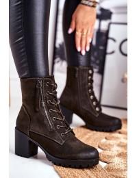 Patogūs zomšiniai batai su pašiltinimu - 45-37 KHAKI