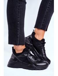 Juodos spalvos natūralios odos batai - GG2N3041 BLK