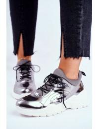 Sidabro spalvos natūralios odos batai - GG2N3040 PEWTER