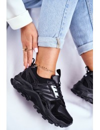 Juodi bateliai Sneakers Big Star  - GG274981 BLK