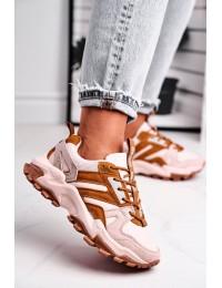 Madingos aukštos kokybės sportinio stiliaus batai - GG274664 BEIGE/BROWN