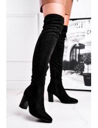 Juodos spalvos stilingi seksualūs ilgaauliai - 21-16191 BLK
