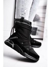 Šilti patogūs juodi batai su avikailiu - GG274628 BLK