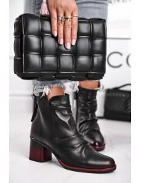 Natūralios odos madingi aukštos kokybės batai - 04757-01/00-5 BLK