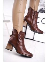 Natūralios odos madingi aukštos kokybės batai - 04757-02/00-3 BROWN