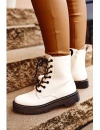 Stilingi aukštos kokybės suvarstomi auliniai batai - HX56 WHITE
