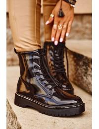 Stilingi aukštos kokybės suvarstomi auliniai batai - HX56 BLK