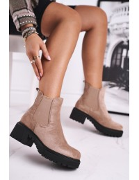 Juodi stilingi zomšiniai batai Beige Sidamo  - NS158 BEIGE