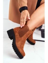 Juodi stilingi zomšiniai batai Camel Sidamo  - NS158 CAMEL