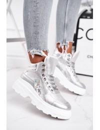 Stilingi laisvalaikio stiliaus batai su pašiltinimu - IC01P SILVER