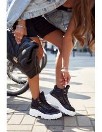 Stilingi laisvalaikio stiliaus batai su pašiltinimu - IC01P BLACK
