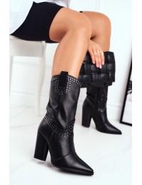 Originalaus dizaino juodi ilgaauliai batai - RB63 BLK