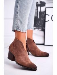 Rudi zomšiniai aukštos kokybės stilingi batai - 21-10542 DK.BEIGE