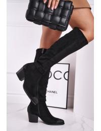 Aukštos kokybės juodi stilingi ilgaauliai - 21-10545 BLK