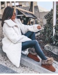 Natūralios verstos odos UGG stiliaus šilti batai Snow Fox - 5820 CAMEL