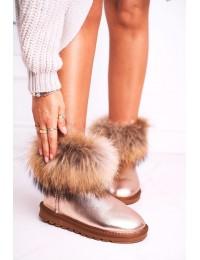 Natūralios odos UGG stiliaus šilti batai Snow Fox - 5820-1 CHAMPAGNE